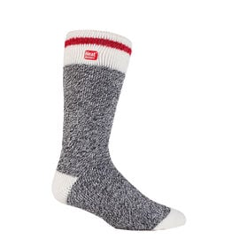 Heat Holders Men's Block Twist Socks - Red - One Size