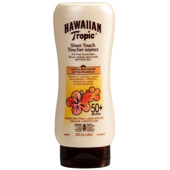 Hawaiian Tropic Sheer Touch Ultra Radiance Sunscreen - 50+SPF - 240ml
