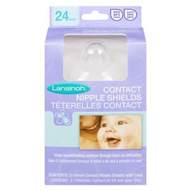Lansinoh Contact Nipple Shields With Case - 24mm - 2 pack