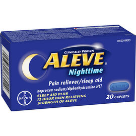 Aleve Nighttime Pain Reliever/Sleep Aid - 20's