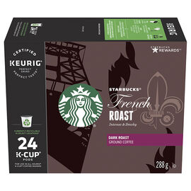 K-Cup Starbucks Coffee Pods - French Roast - 24 pack