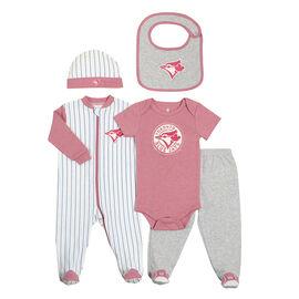 Toronto Blue Jays 5-Piece Layette Set - Girls - Newborn