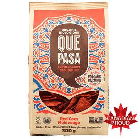 Que Pasa Organic Tortilla Chips - Red Corn - 300g