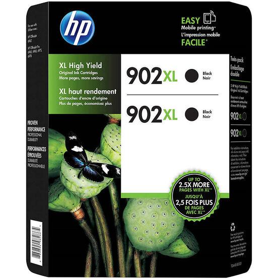 HP 902XL High Yield Original Ink Cartridges - Black - 2 pack - T0A40BN