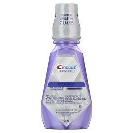 Crest 3D White Brilliance Whitening Mouthwash - Clean Mint - 500ml