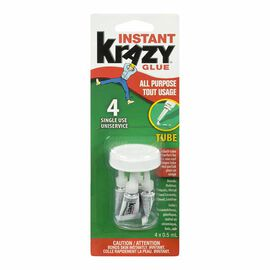 Krazy Glue Single Use Tubes - 4's