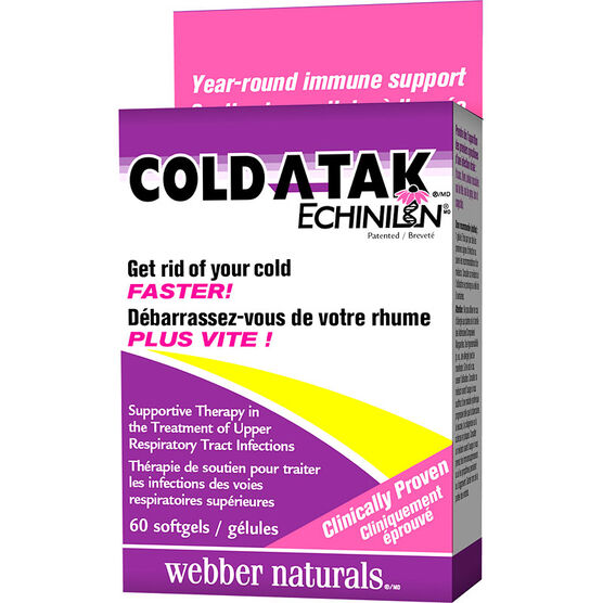 Webber Naturals Cold Atak Echinilin - 60's