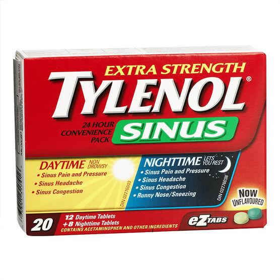 Tylenol* Sinus 24 hour Convenience Pack - Extra Strength - 12 + 8's