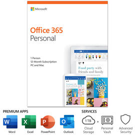 Microsoft Office 365 Personal - 1 Year Subscription