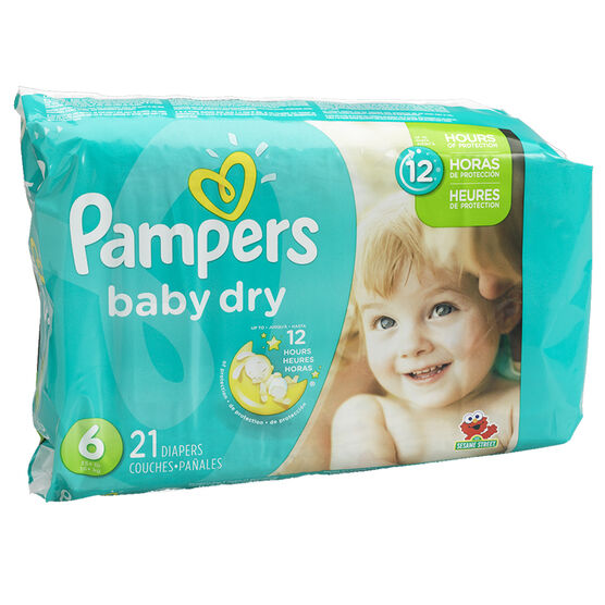 Pampers Baby Dry Diapers - Size 6 - 21's