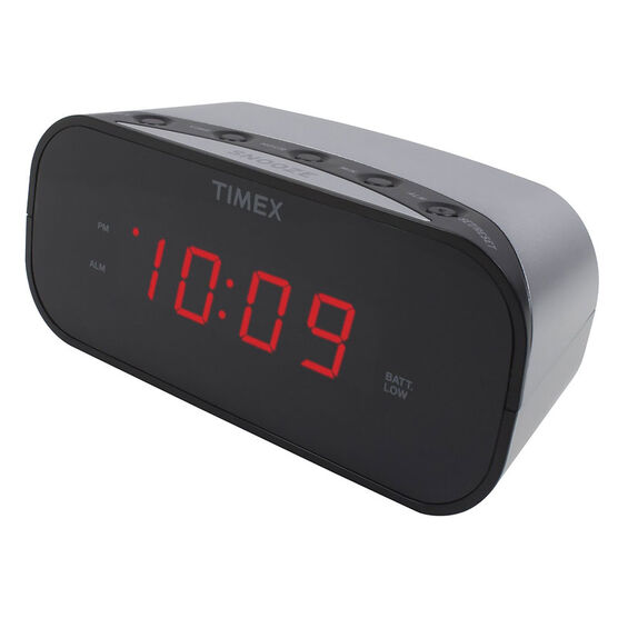 Timex Alarm Clock - Silver - T121S