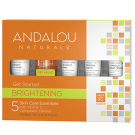 Andalou Naturals Brightening Get Started Kit - 5 piece