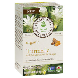 Traditional Medicinals Organic Herbal Tea - Turmeric with Meadosweet & Ginger - 20 Pack