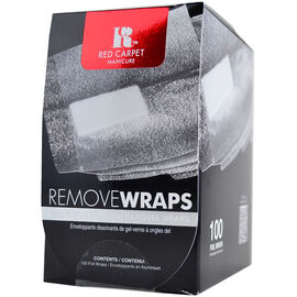 Red Carpet Manicure LED Nail Gel Polish Remover Foils - 100 Count