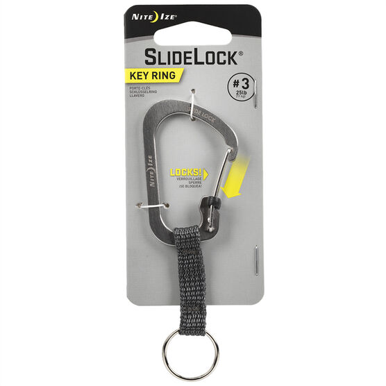 Nite Ize Slide Lock Carabiner - Stainless - CSLW3-11-R6