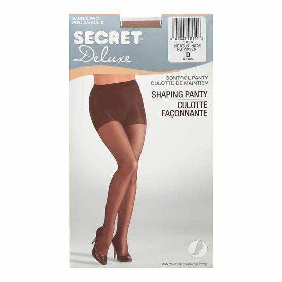 Secret Ultra Silky Shaping  Panty Hose - D - Medium Nude