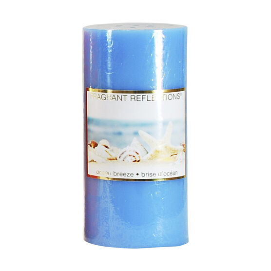 Fragrant Reflections Pillar Candle - Ocean Breeze - 6inch