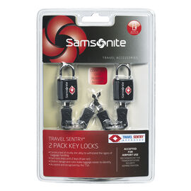 Samsonite Travel Sentry Key Locks - 2 Pack - Black