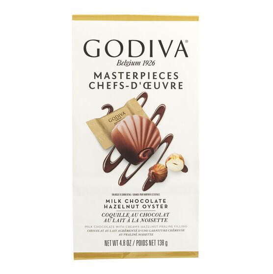 Godiva Milk Chocolate Hazelnut Oyster - 138g