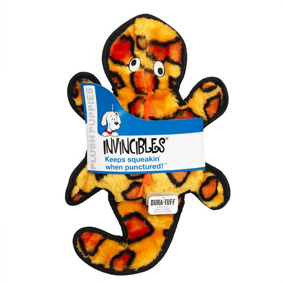 Kyjen Invincibles Gecko Dog Toy - Orange