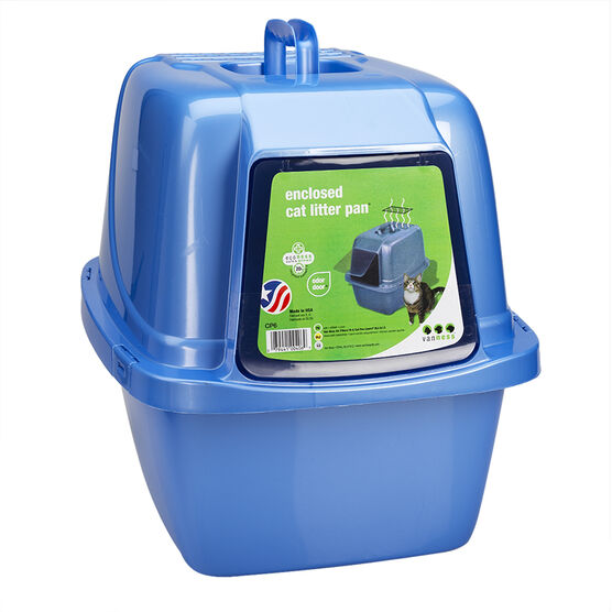VanNess Enclosed Litter Box - Blue/Grey