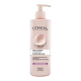 L'Oreal Fine Flowers Cleansing Milk - Dry Sensitive Skin - 400ml