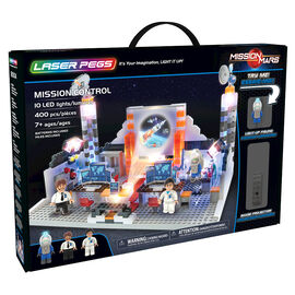 Laser Pegs Building Blocks Playset - Mission Mars Collection - Mars Shuttle