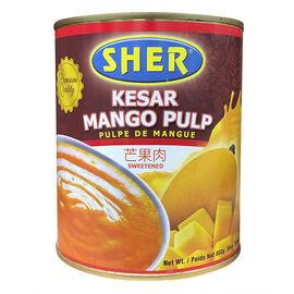 Sher Kesar Mango Pulp - Sweetened - 850g