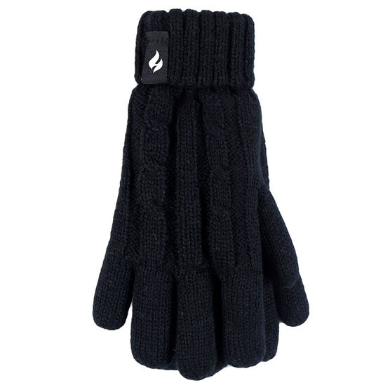 Heat Holders Girls Cables Gloves - Black