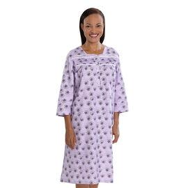 Silvert's Women's Pretty Flannel Long Sleeve Nightgown - Small - XL
