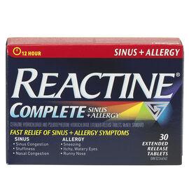 Reactine Allergy and Sinus Tabs - 30's