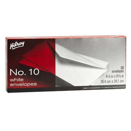 Hilroy Envelopes No.10 Plain - 50 pack
