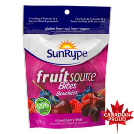 Sun-Rype Fruitsource Mini-Bites - Mixed Berry - 170g