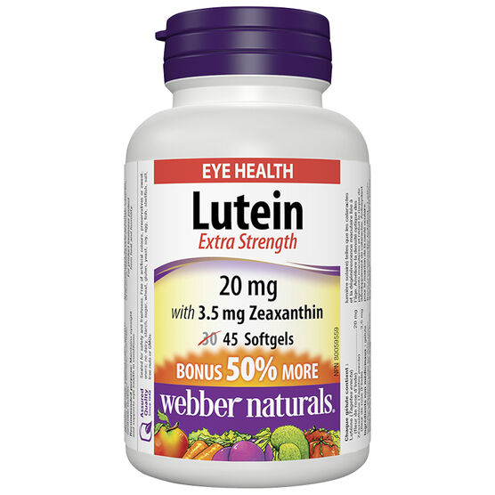 Webber Naturals Lutein Extra Strength with Zeaxanthin - 20mg - 30's