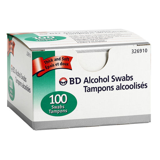BD Alcohol Swabs - 100's