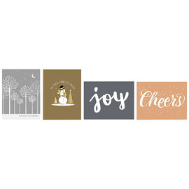 A Greetings Mini Up Greeting Cards - Joy & Cheer - 20 Cards