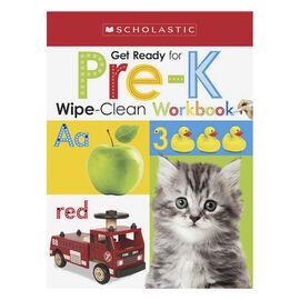 Scholastic Early Learners Wipe-Clean Workbook - Pre-K