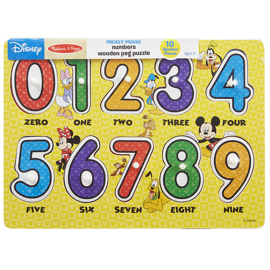 Melissa & Doug Mickey Numbers Peg Puzzle