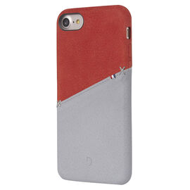 Decoded Leather Snap on Case for iPhone 8/7/6s/6 - Red/Grey - DCDA6IPO7SO1RDGY