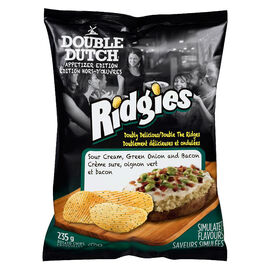 Double Dutch Ridgies Potato Chips - Sour Cream & Onion - 235g