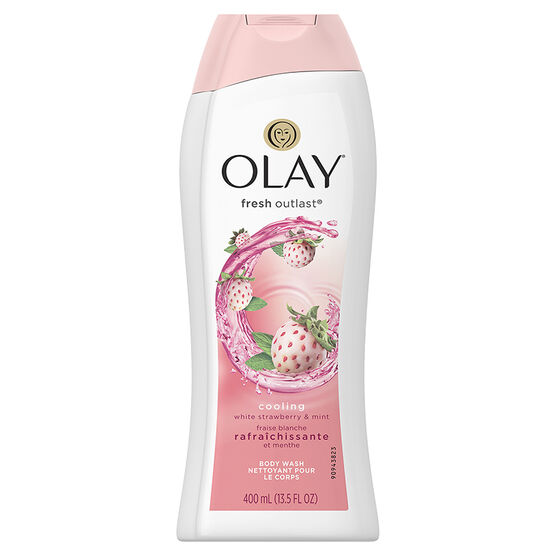 Olay Fresh Outlast Cooling Body Wash - White Strawberry & Mint - 400ml