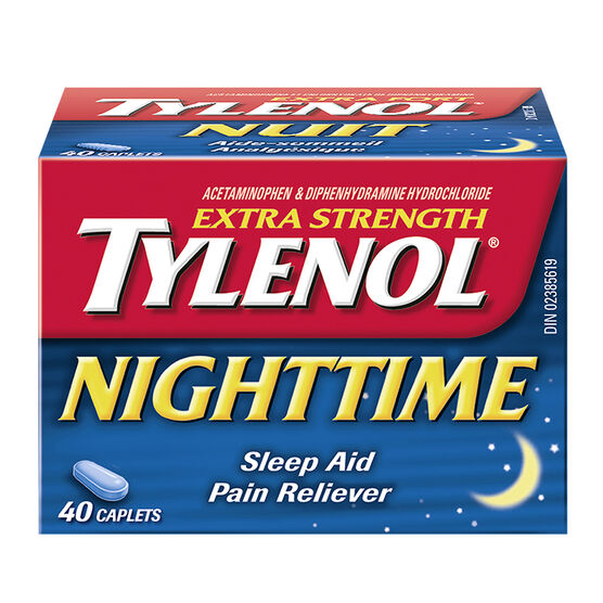 Tylenol* Nighttime Caplets - Extra Strength - 40's