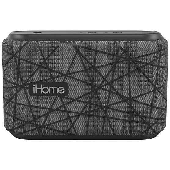 iHome Grip Bluetooth Speaker with Mic - Grey/Black - IBT370GBGBC