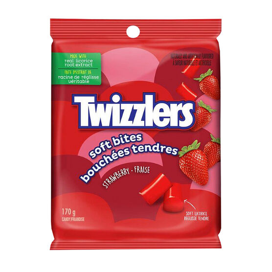 Twizzler Soft Bites Licorice - Strawberry - 170g