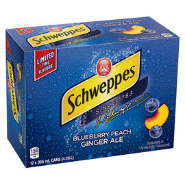 Schweppes Ginger Ale - Blueberry Peach - 12 x 355ml