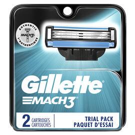 Gillette Mach3 Razor Blades Trial Pack - 2's
