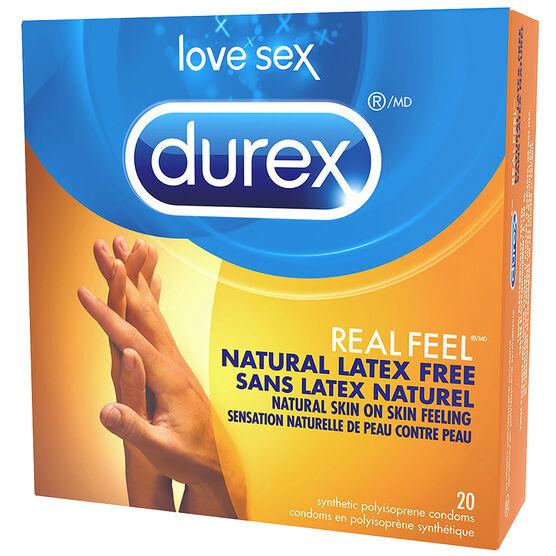 Durex Real Feel Natural Latex Free Condoms - 20's