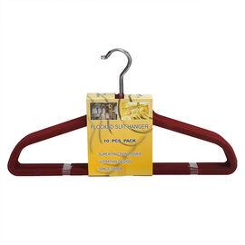 London Drugs Flocked Suit Hangers - Marsala - 10 pack