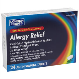 London Drugs Allergy Relief Extra Strength - 10mg - 24's