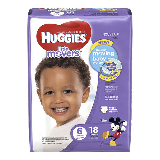 Huggies Little Movers Disposable Diaper - Size 6 - 18s